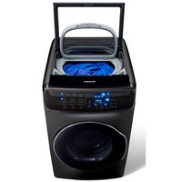 Samsung 5.5 Total cu. ft. High-Efficiency FlexWash Washer in Black Stainless Steel-WV55M9600AV - The Home Depot