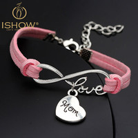 Great Gift For Mom For Mother's Day - Leather Charm Bracelet