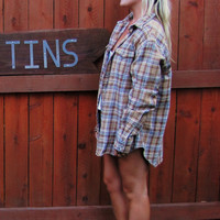 vintage late 80s Polo by Ralph Lauren plaid flannel overized slouchy grunge hipster flannel shirt