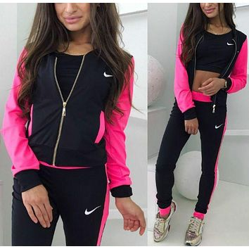 shosouvenir : NIKE:Fashion Letter Long Sleeve Shirt Sweater Pants Sweatpants Set Two-Piece Sportswear