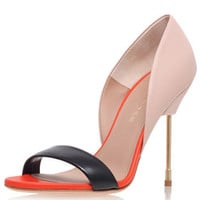 **HIGH HEEL LEATHER COURT SHOES BY KURT GEIGER