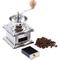 Stainless Steel Manual Wood Knob FRESH Herb Spices Coffee Grinder