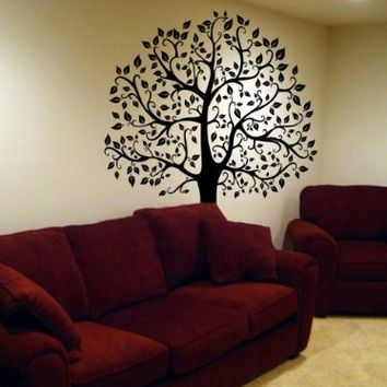 Large 6ft Tree Wall Decal Deco Art Sticker Mural - BLACK:Amazon:Everything Else