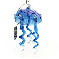 Holiday Ornaments DANGLE JELLY FISH Glass Ocean Tentacles Sting 4057760 Blue