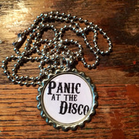 Panic! At the Disco title bottlecap necklace
