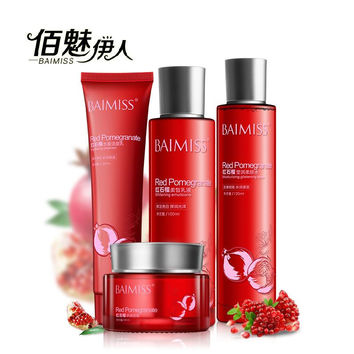 BAIMISS Red Pomegranate Nutritious Moisture Face Cream Skin Care Sets Whitening Anti Aging Anti Wrinkle Cream Lift Face Care