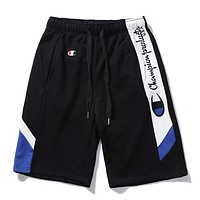 CHAMPION Popular Women Men Embroidery Color Matching Sports Running Shorts I12312-1
