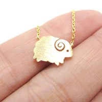 Little Mountain Goat Ram Sheep Shaped Animal Charm Necklace