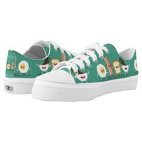 Food hipster,pattern,friends forever,egg,coffee, printed shoes