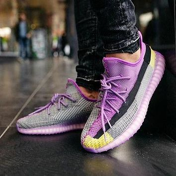 Adidas Yeezy Boost 350 colorblock mesh breathable sports running shoes