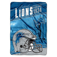 Detroit Lions NFL Stagger Oversized Micro Raschel (62in x 90in)