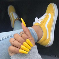 Vans Classics Old Skool Yellow Sneaker Shoes