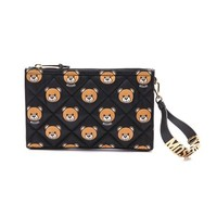 Printed Quilted Nylon Clutch