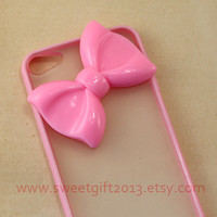Big pink Bow Ipod Touch 5 Case, Samsung Galaxy S2 / S3 i9300 / S4 i9500 / note 2 / note 3 case, iphone 4 4s / 5 5s / 5c case