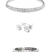 Gia Crystal 3-Piece Jewelry Set