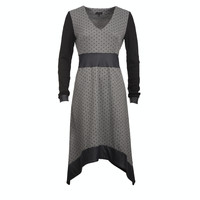 Dress - polka dots and leather (S-XL)