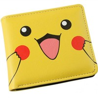 Japanese Anime Purse  Pikachu Wallet Pouch Portefeuille Homme Woman Wallet and Men Wallets  Kawaii Pokemon go  AT_89_9
