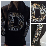 Duramax  Diesel cheetah print      hooded sweatshirt
