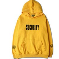 Casual Loose Hooded Letters Printing Sweater