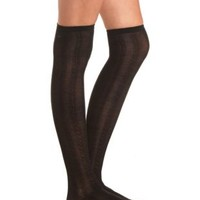 Pointelle & Cable Knit Over-the-Knee Socks by Charlotte Russe
