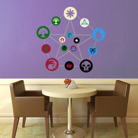 Ravnica Guild Chart - Magic the Gathering Wall Decal - Large - Full Color Layered