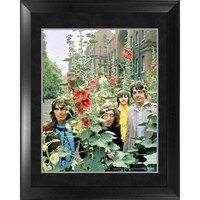 DCCKU7Q The Beatles Through the Years 1968 The Beatles in the Garden Framed 16x20 Photo