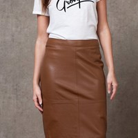 Leather-look pencil skirt - SKIRTS - WOMAN | Stradivarius Republic of Ireland