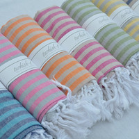 Turkish-t Beach Towel with Stripes