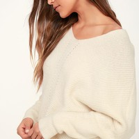 Emerson Cream Dolman Sleeve Sweater