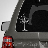 Car Decal - Tree of Gondor Car Decal inspired by The Lord of the Rings