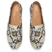 TAUPE CANVAS PRINTED ABSTRACT WOMEN'S CLASSICS