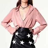 Julie Star Patch Leather Skirt Discover the latest fashion trends online at storets.com