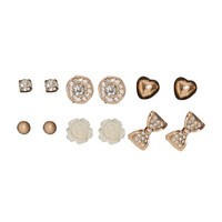 6 On Bow Tie Earring Set   Shop Jewelry at Wet Seal