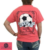 SALE Southern Couture Preppy Classic Vintage Soccer T-Shirt