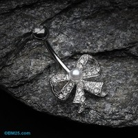 Bow-Tie Splendid Belly Button Ring