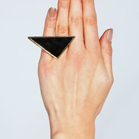 Lauren Triangular Geo Ring