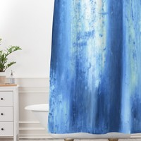 Madart Inc. Blue Lake Shower Curtain And Mat | DENY Designs Home Accessories