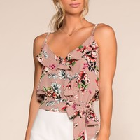 Pick Just One Floral Top - Mauve