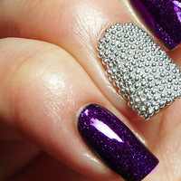 Caviar Nail Beads - Easy DIY, Home Manicure - Black, Silver, Gold, White or Hot Pink Color Option