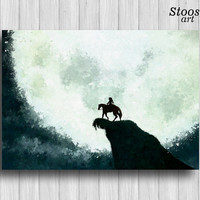 legend of zelda poster link on horse print nintendo game