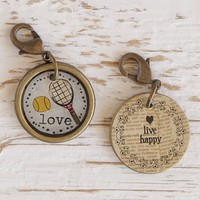 Tennis  Junk  Market  Vintage  Hobby  Charm  From  Natural  Life