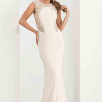 Jasz Couture Jersey Fitted Dress 5623