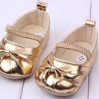 children's shoe noble bow princess Baby Shoes soft sole baby shoe Girls First Walkers 3 size UBY