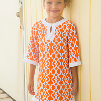Clementine & White Arabesque Cover-Up - Toddler & Girls   zulily