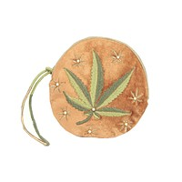 Just a Weed Embroidered Pouch