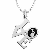 Michigan Love Necklace in Solid Sterling Silver