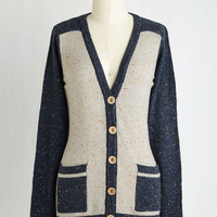 Colorblocking, Scholastic Mid-length Long Sleeve Always a Prep Ahead Cardigan by ModCloth