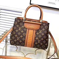 Best Gifts Louis Vuitton Women Fashion Leather Satchel Shoulder Bag Handbag Crossbody