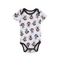Baby Girls&Boys Costume Monkey Printed Infant Baby Bodysuit Born Baby Clothes 25 Style