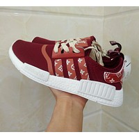 Louis Vuitton LV x Adidas NMD R1 Red S75237 Boost Fashion Trending Sport Running Shoes Casual Shoes Sneakers-1